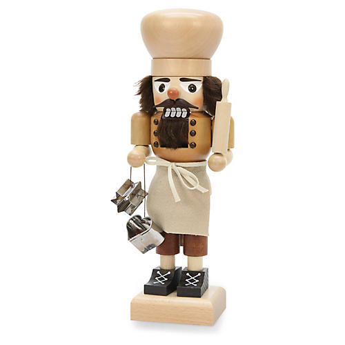 "12"" Pastry Chef Nutcracker, Natural/Silver"