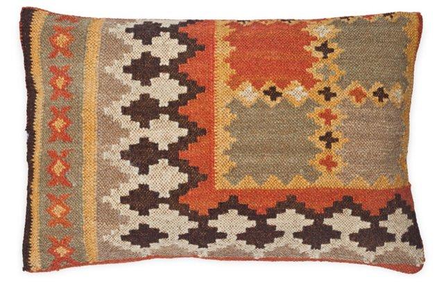 Kilim 14x22 Cotton-Blend Pillow, Multi