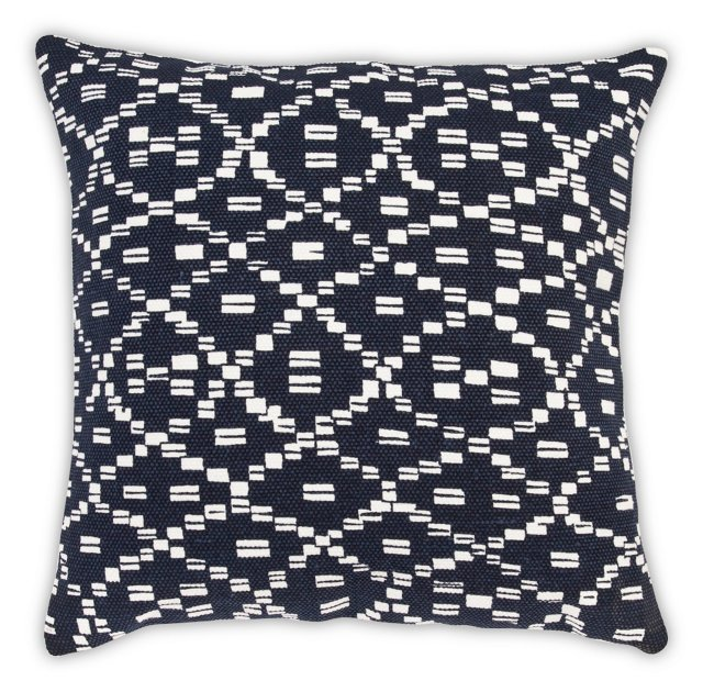 Diamond 20x20 Cotton Pillow, Navy