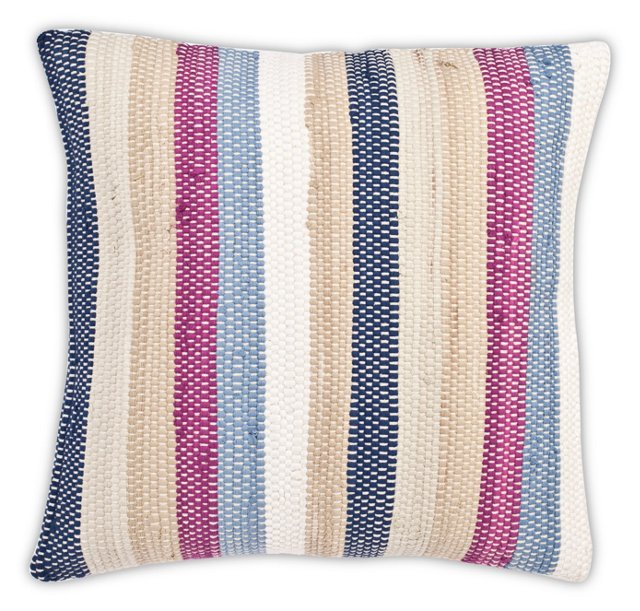 Weave 20x20 Cotton Pillow, Multi