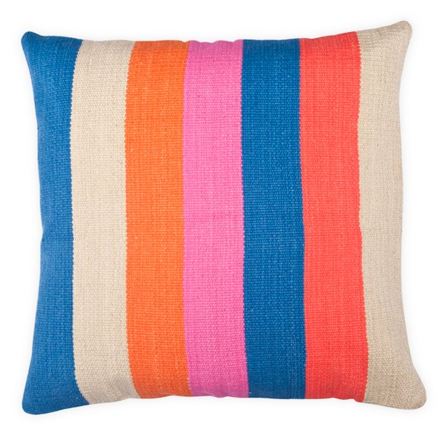 Pop 20x20 Cotton Pillow, Multi