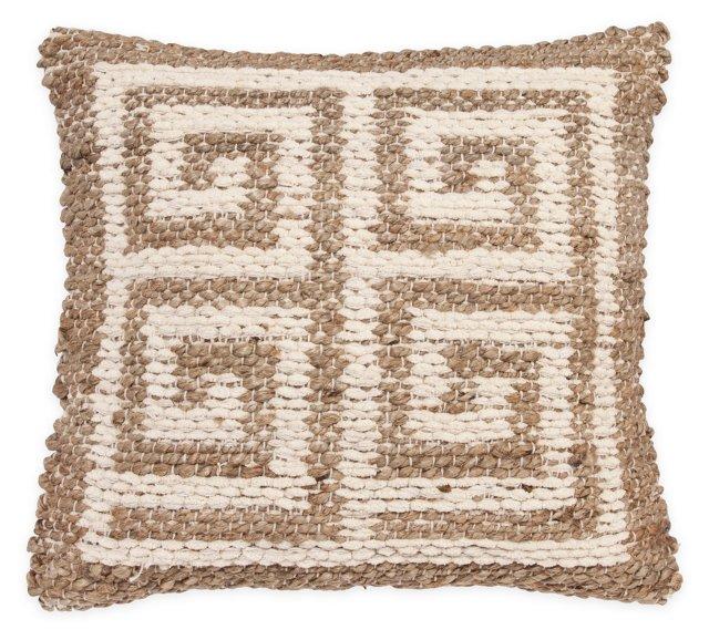 Greek Key 20x20 Pillow, Natural