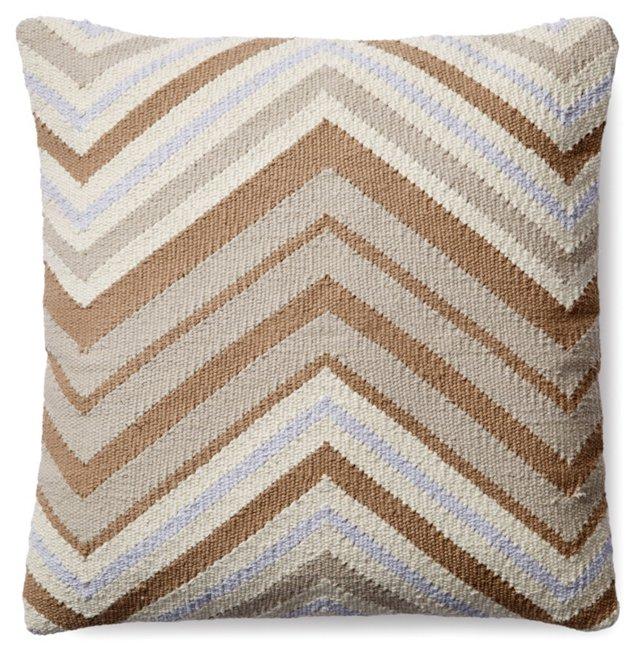 Chevron 18x18 Cotton Pillow, Camel