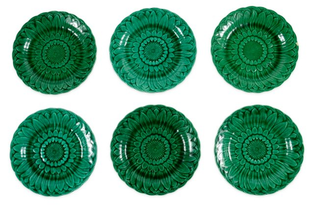 Wedgwood Sunflower Plates, Set of 6