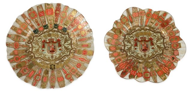 Cigar Band Plates, Pair