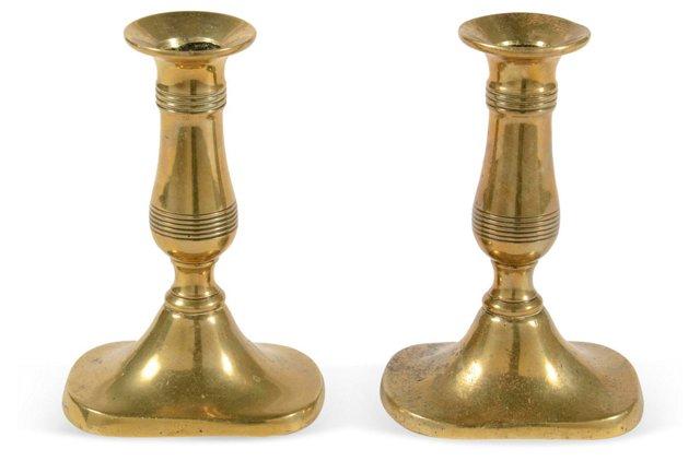 Small Brass Candlesticks, Pair II