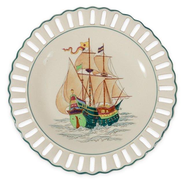 1960s Wedgewood Ship Plate