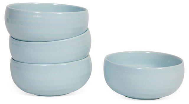 S/4 Ceramic Bowls, Blue