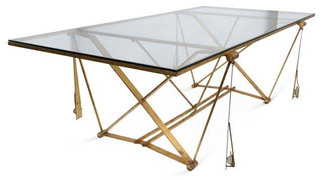 Michel Kiriliuk Table w/ Hanging Stones