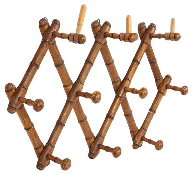 Faux-Bamboo Coat Rack II