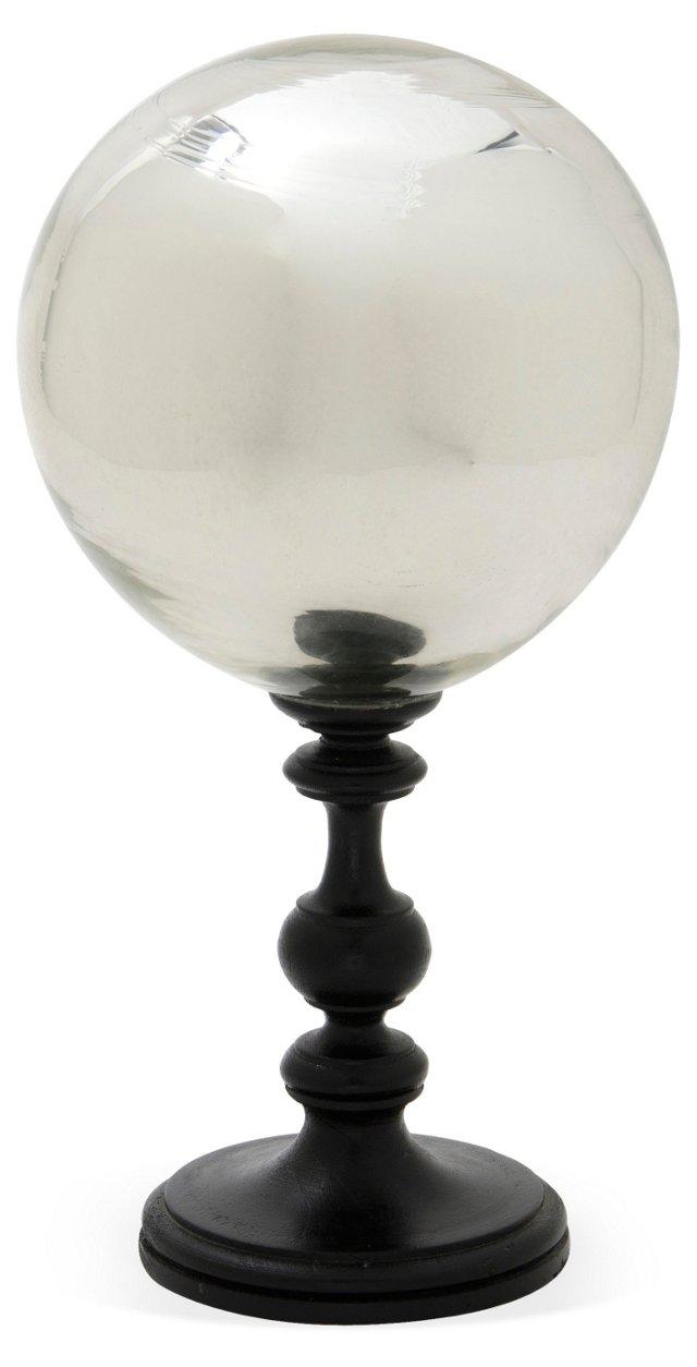 Mercury-Glass Globe w/ Stand