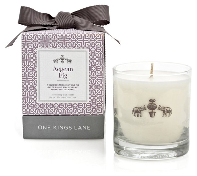 8.4 oz Candle, Aegean Fig