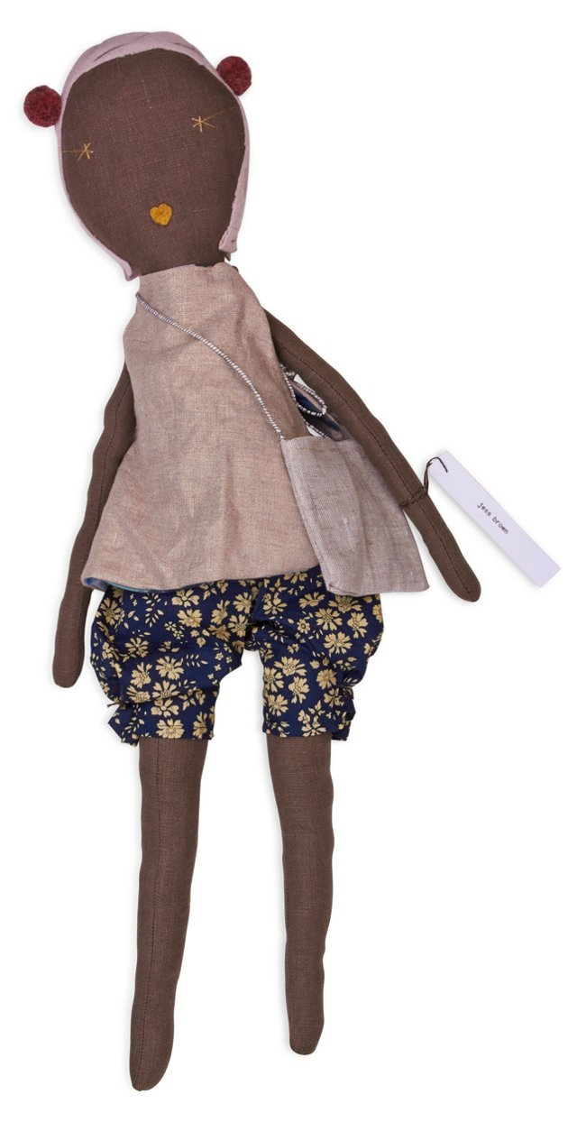 Jess Brown Rag Doll, Floral Shorts