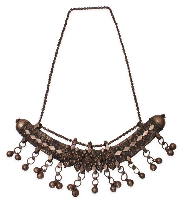 Indian Bell Tassel Necklace