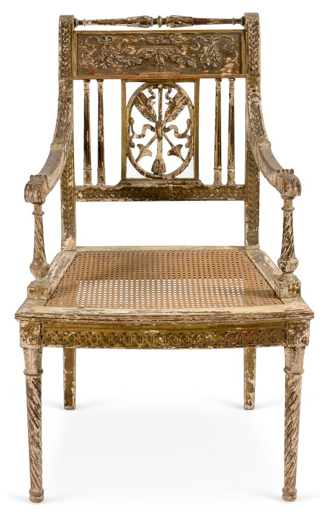 Antique Caned Armchair