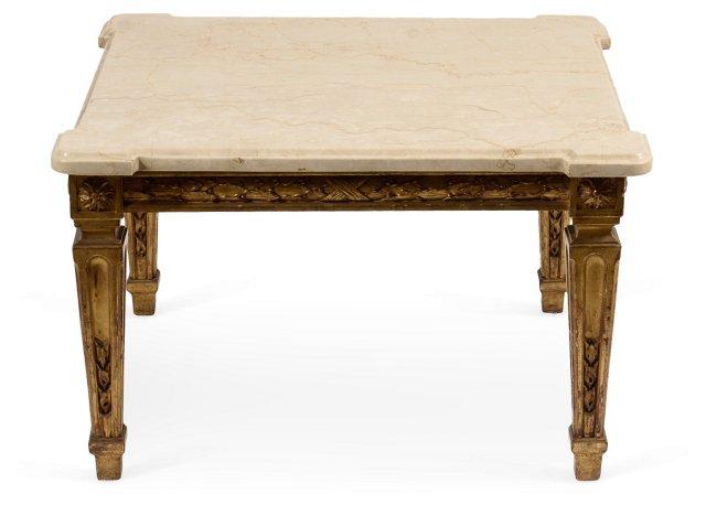 Louis XVI-Style Table w/ Marble Top I
