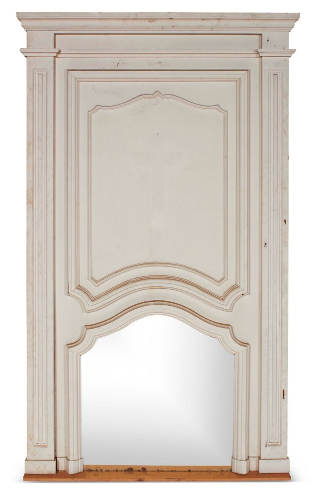Monumental Trumeau Mirror, White