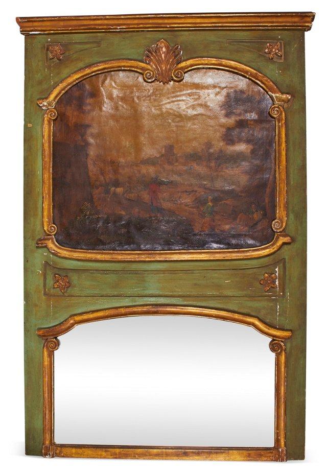 Green & Gold Trumeau Mirror