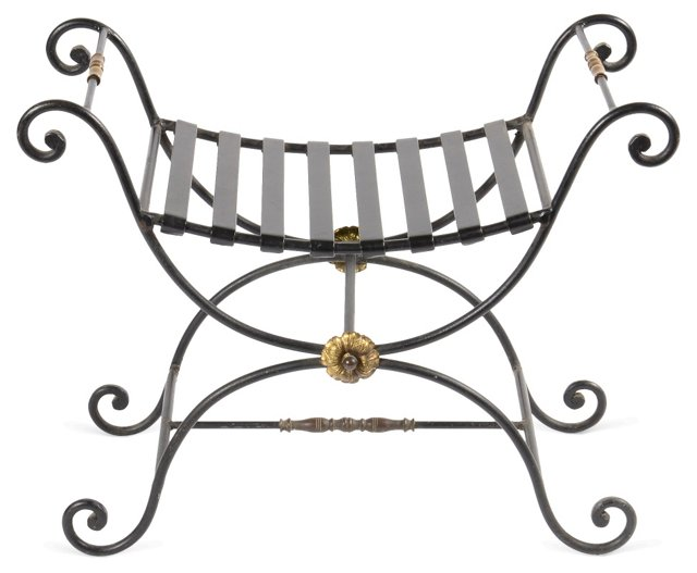 Iron Curule Bench