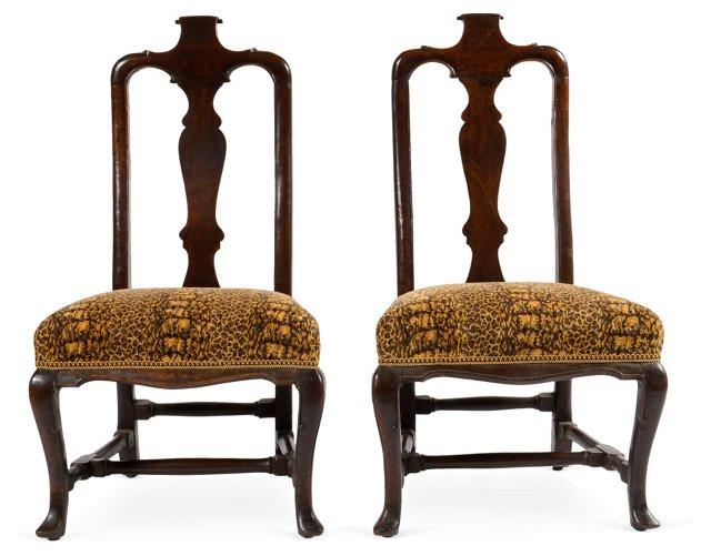 Antique Portuguese Chairs, Pair