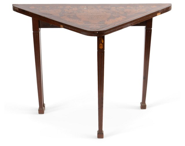 Folding Marquetry Card Table
