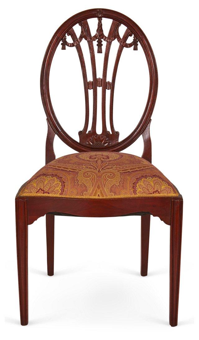Side Chair w/ Swag & Tassel Motif