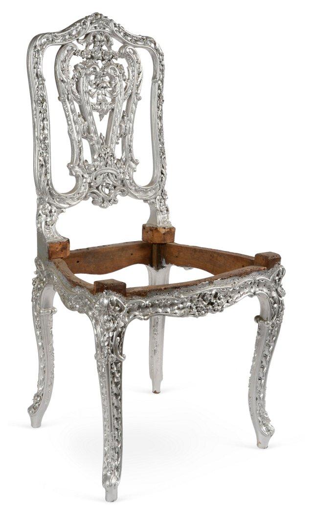 Silver Gilt Italian Chair