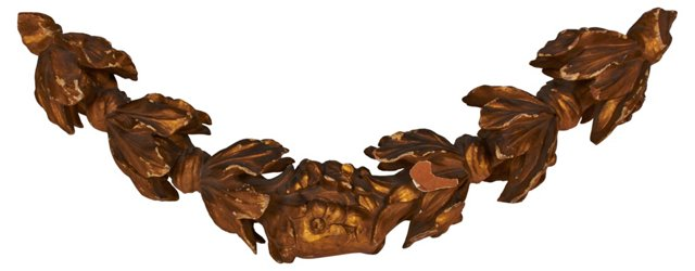 19th-C. Gilt Garland Carving