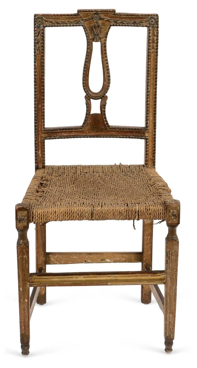 Antique Carved French  Chair
