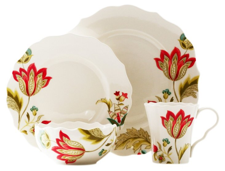 16-Pc Bella Donna Dinnerware Set