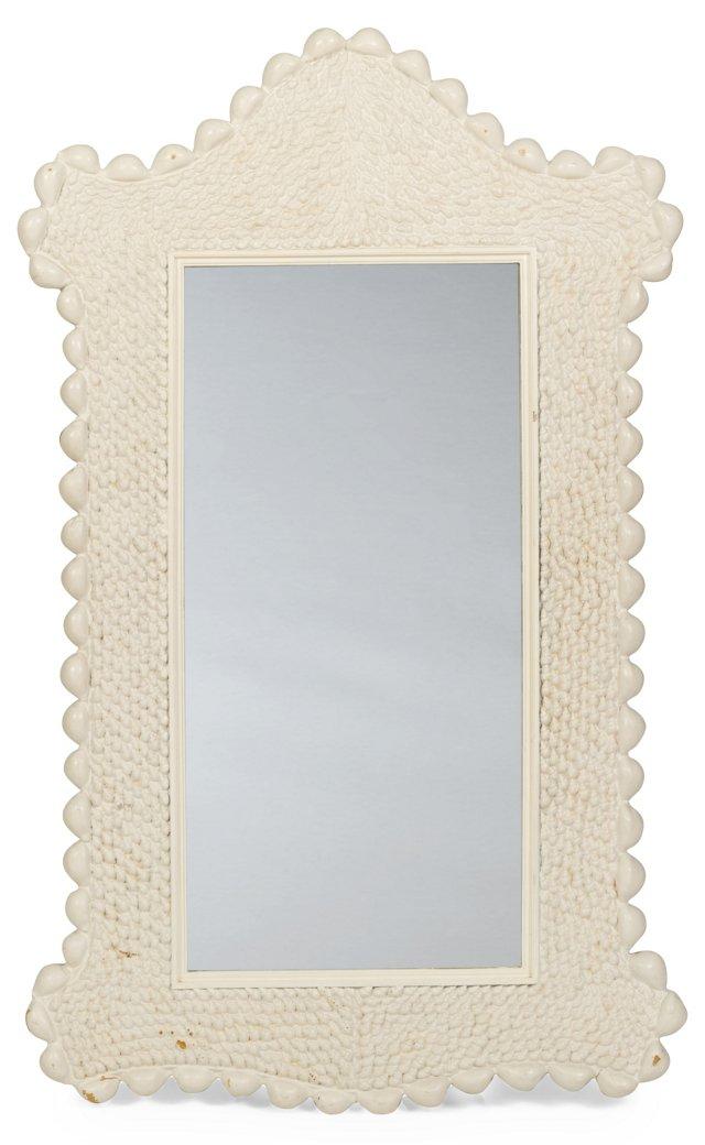 Seashell-Framed Mirror