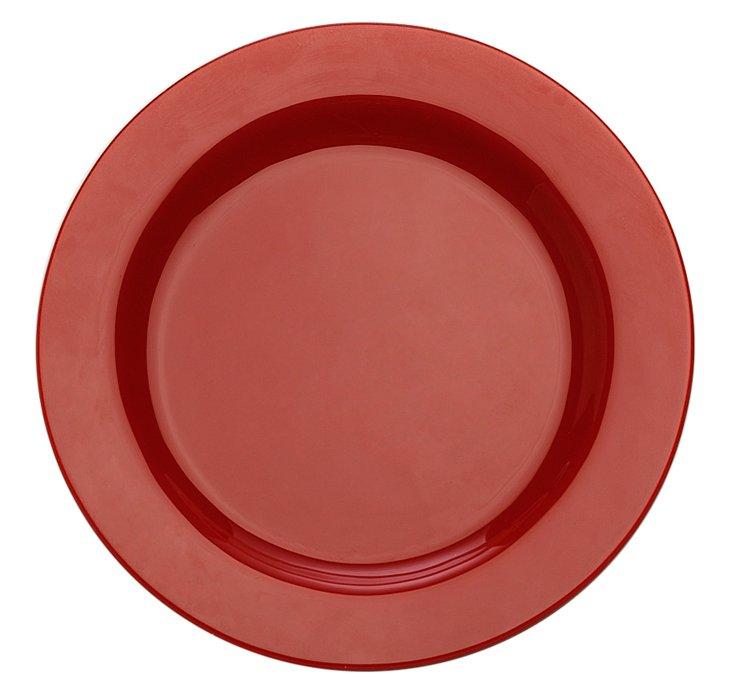 "S/4 Paint 9"" Rim Plates, Red"