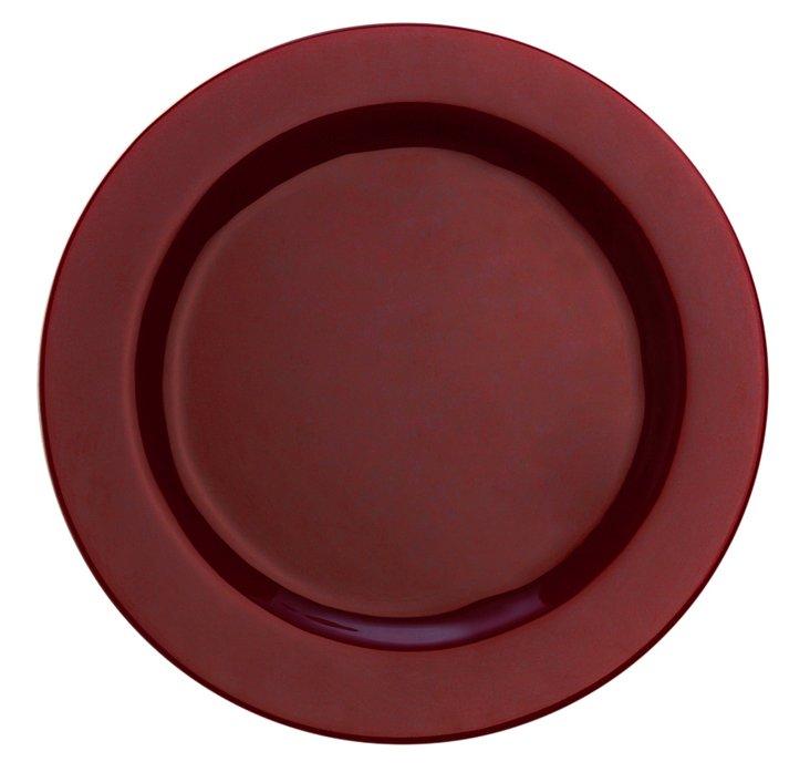 "S/4 Paint 9"" Rim Plates, Maroon"