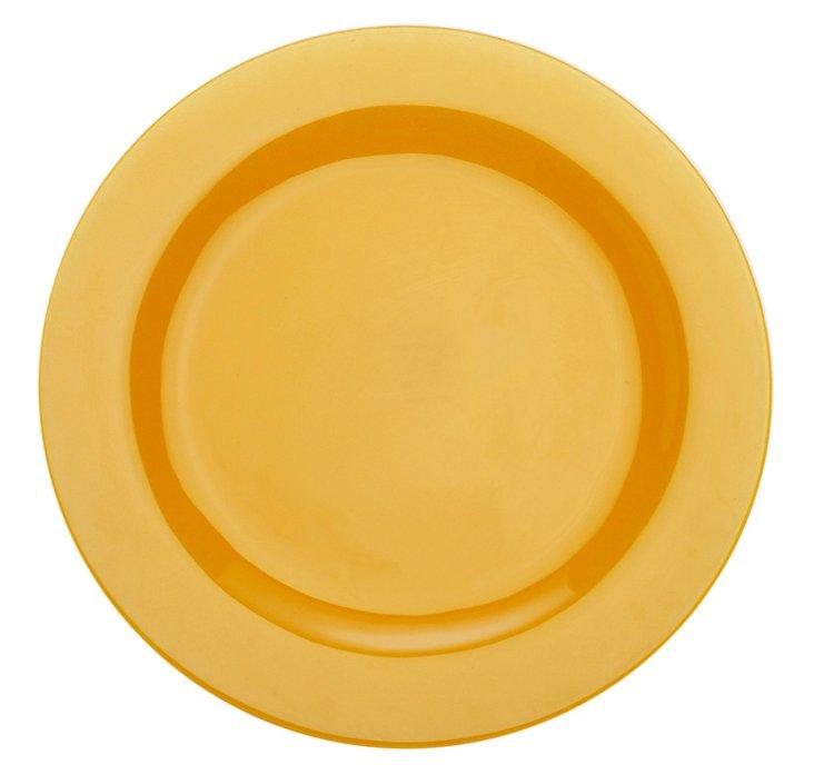 "S/4 Paint 9"" Rim Plates, Amber"