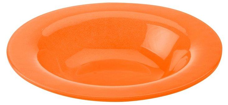S/4 Rimmed Bowls, Orange