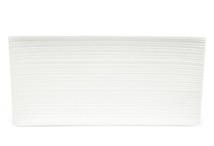 Medium Cirque Rectangular Platter, White