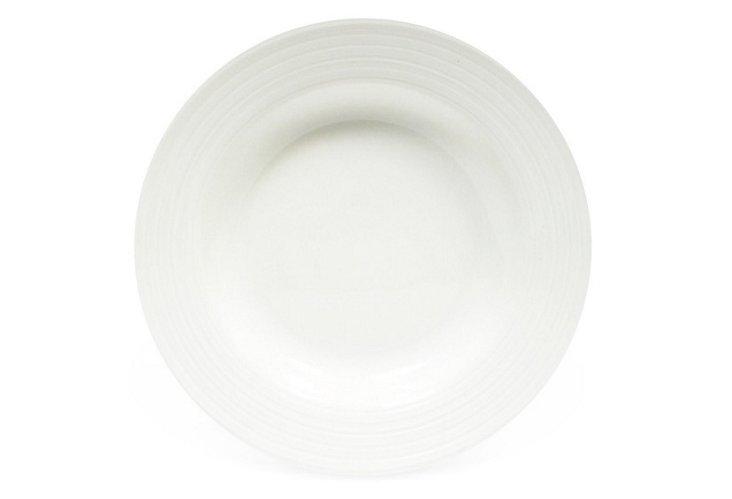 S/6 Cirque Rim Soup Bowls, White