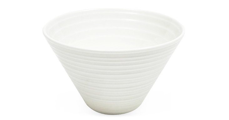 S/6 Cirque Conical Side Bowls, White