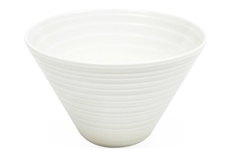 Cirque Conical Large Bowl, White