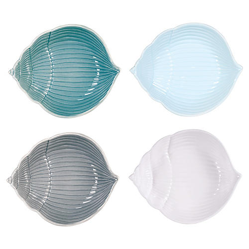 Asst. of 4 Cape Coral Shell Bowls