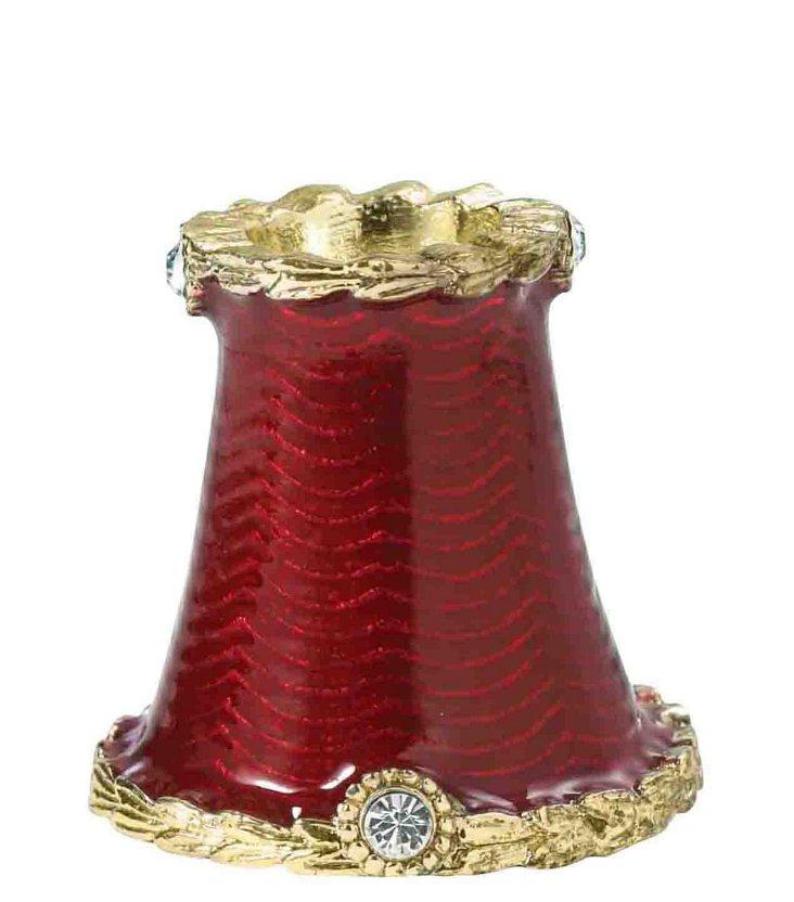 Enamel Bottle Stopper Holder, Red