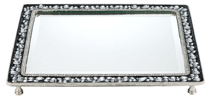 Channing Beveled Mirror Tray