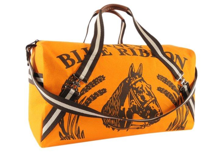 Maryann Canvas Horse Duffel, Orange