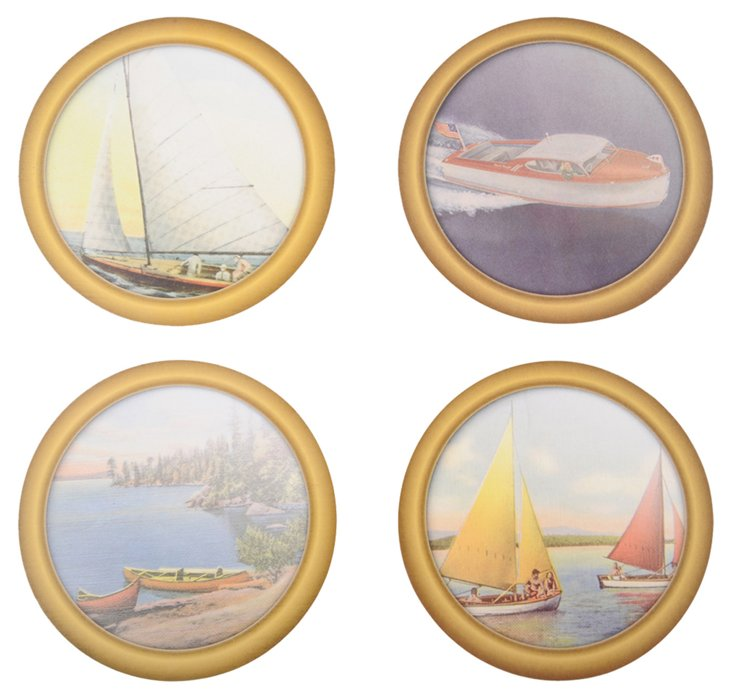 Paper Drink Coasters Boating, Asst of 30