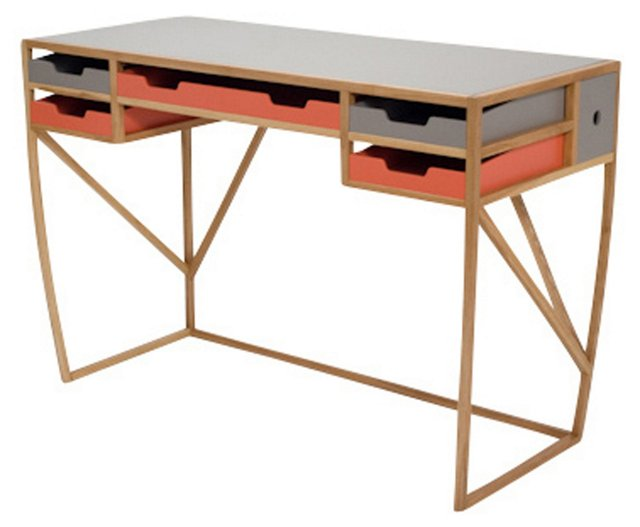 Inbox/Outbox Desk, Orange