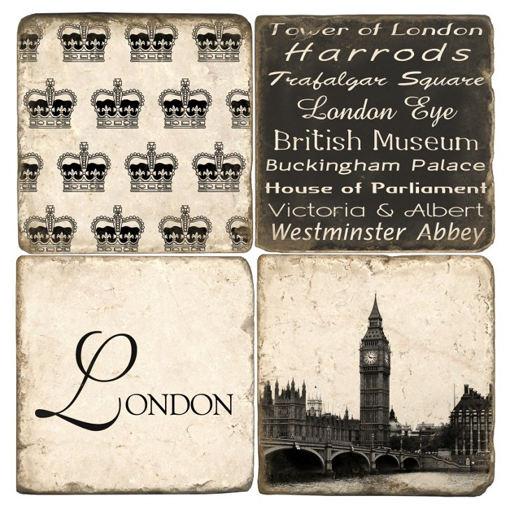 S/4 Marble Coasters, London