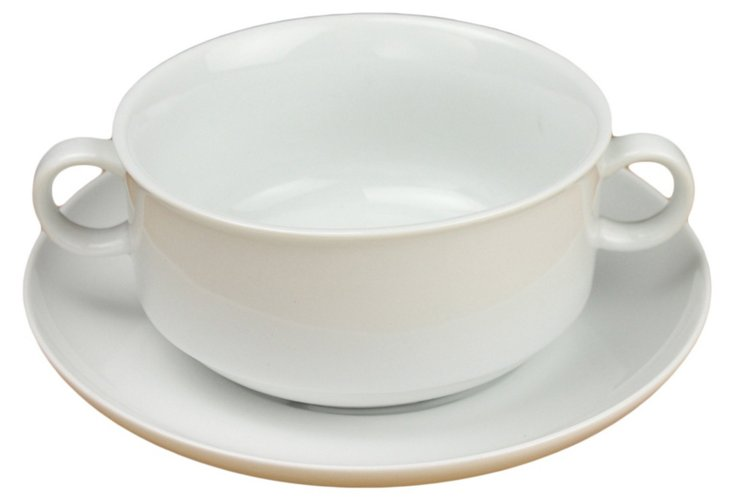 S/4 French Onion Bowls & Saucers