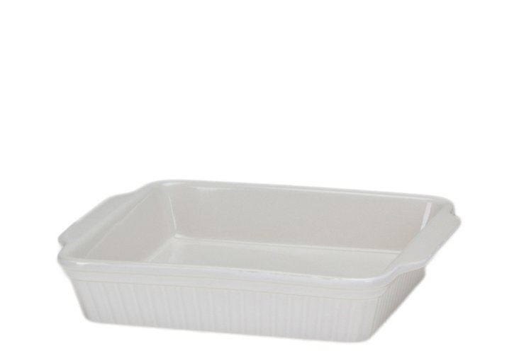 S/2 Square Bakers, White