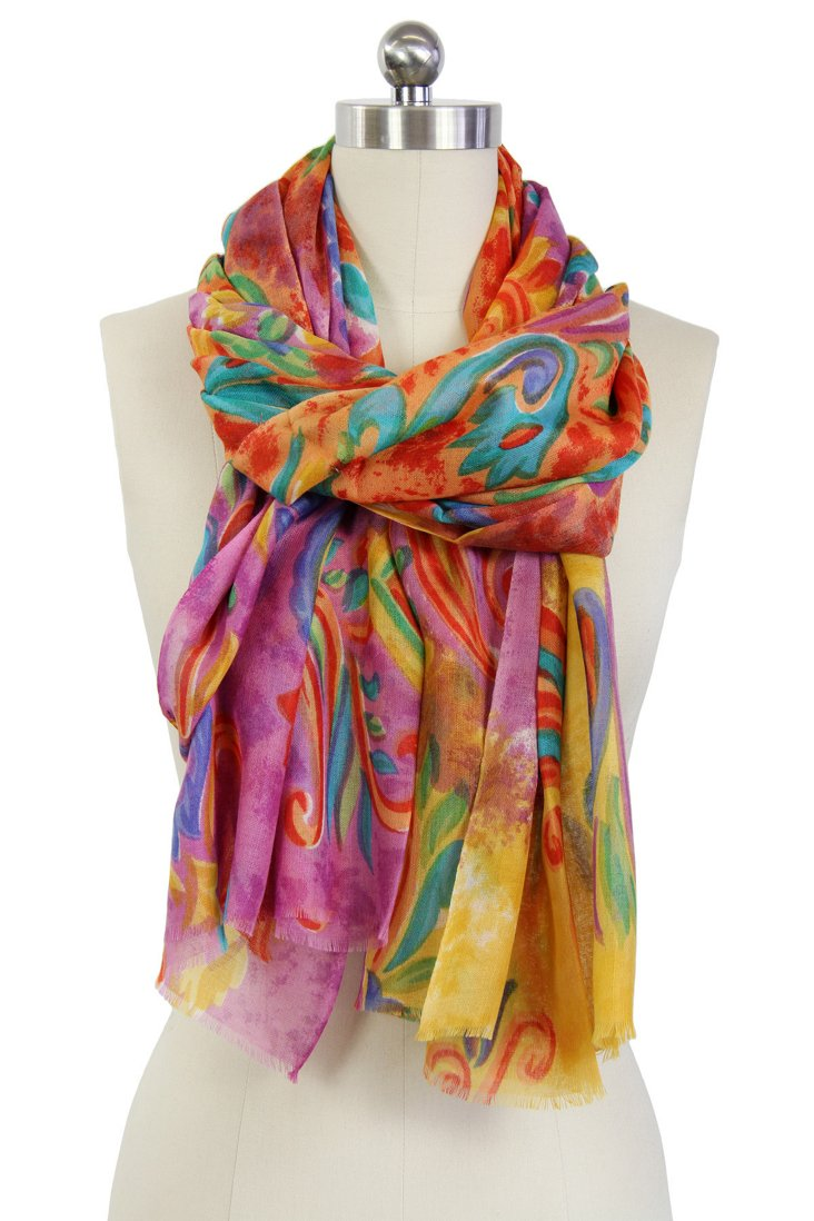 Floral Dream Scarf, Pink