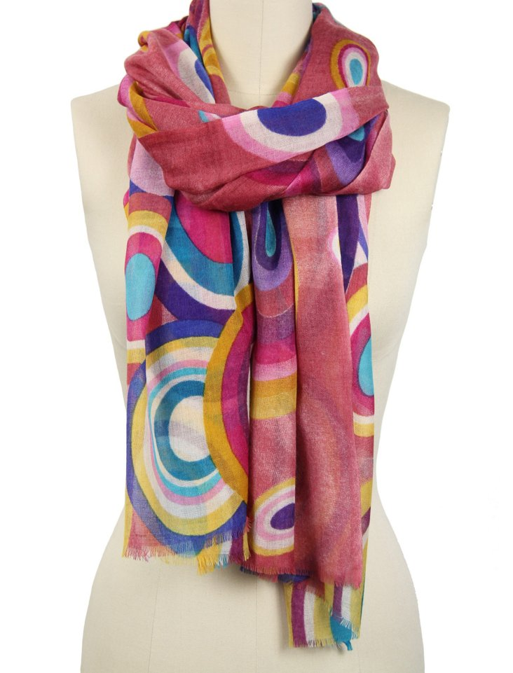 Bubbly Scarf, Rose Pink